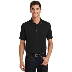 Port Authority® Poly-Charcoal Blend Pique Polo Shirt